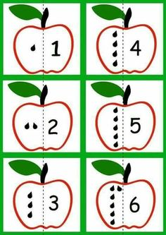 Apple Activities, Preschool Learning Activities, Toddler Learning, Infant Activities, Teaching Kids, Numbers Preschool, Fall Preschool, Preschool Math, Shapes For Kids