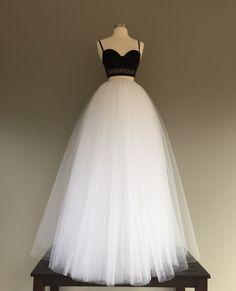 Tulle floor length skirt