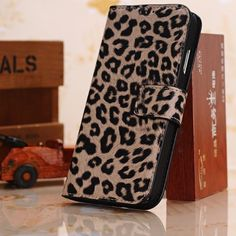 Leopard Pattern Horizontal Flip Leather Case for Samsung GALAXY S4 i9500 with Card Holder