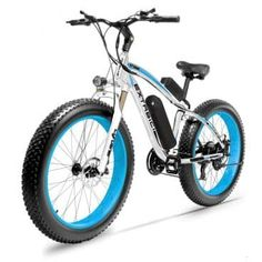 Cyrusher Fat Tire Bike Snow Bike Mountain Bike with Motor Lithium Battery Extrbici Shimano 7 Speeds System inch Fat Tire Suspension Fork Dual Disc Brakes New Adjustable Handlebar Mountain Bike Reviews, Electric Mountain Bike, Mountain Biking, Folding Electric Bike, Electric Bicycle, Best Electric Bikes, Full Suspension, New Baby Gifts, Worlds Of Fun