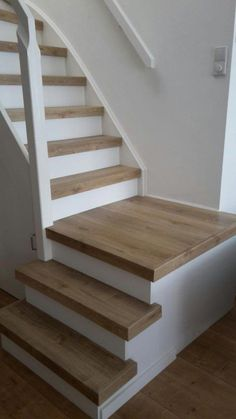 New basement stairs diy staircase remodel decor Ideas Basement Stairs, House Stairs, Stair Renovation, Escalier Design, Staircase Remodel, Staircase Makeover, Wooden Stairs, Stair Storage, Interior Stairs