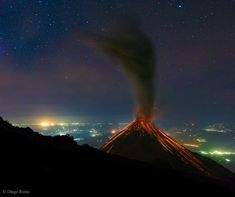 Volcano of Fire Erupts Under the Stars: Diego Rizzo: First, there was an unusual smell. Then there was a loud bang. But what appeared to the eye was the most amazing of all. While waiting near midnight to see a possible eruption of Volcán de Fuego (Volcano of Fire) in Guatemala March2015