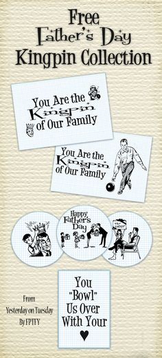 Free Fathers Day Printable collection 2012  #fathersday #yesterdayontuesday