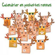 calendrier de lavent ralis avec des pochettes en forme de rennes un calendrier