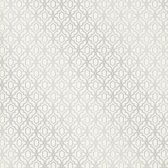 Alcazaba Silver Trellis Wallpaper from the Alhambra Collection by... ($96) ❤ liked on Polyvore featuring home, home decor, wallpaper, paisley wallpaper, silver stripe wallpaper, glitter wallpaper, metallic damask wallpaper and silver glitter wallpaper
