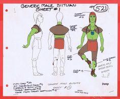 Star Wars Droids Original Cartoon Production Male Biituian 1 Model CEL BV322   eBay