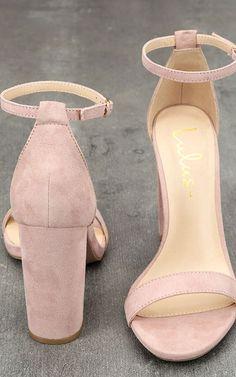 Taylor Nude Suede Ankle Strap Heels via @bestchicfashion