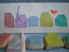 House - Hand Carved Rubber Stamp Idea