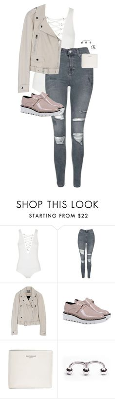 """Untitled #12906"" by alexsrogers ❤ liked on Polyvore featuring Topshop, STELLA McCARTNEY and Yves Saint Laurent"