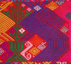 Color palette. Mayan textiles.