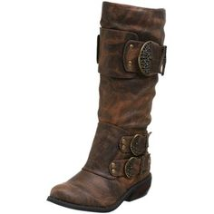 Rugged brown boots <3