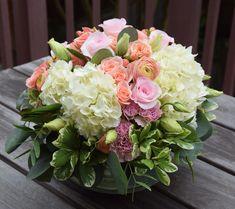 Summer Flower Arrangements, Funeral Flower Arrangements, Funeral Flowers, Flower Centerpieces, Flower Decorations, Floral Arrangements, Wedding Flowers, Exotic Flowers, Beautiful Flowers