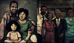 Clementine's family and Lee's family