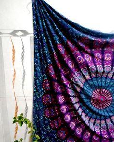 Psychedelic Indian Mandala Tapestry Wall Hanging Hippie Bohemian Bedspread Art #Unbranded #ArtDecoStyle #BedspreadWallHangingHomeDecorPicnicSheet
