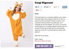 Check out this sweet Corgi costume