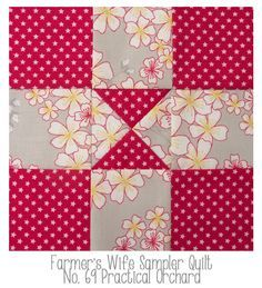 farmer's wife quilt block 69 practical orchard | Farmer's Wife: No 109 Windows, No 69. Practical Orchard