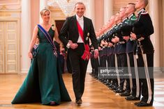 The President of Iceland, Gudni Johannesson and Princess Sophie, Countess of Wessex arrive for a gala dinner at the Royal Palace in Oslo, Norway on May 9, 2017 to mark the 80th Birthday of the King and Queen.   / AFP PHOTO / POOL / Haakon Mosvold Larsen        (Photo credit should read HAAKON MOSVOLD LARSEN/AFP/Getty Images)