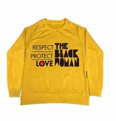 RESPECT PROTECT LOVE THE BLACK WOMAN™ Women's Yellow Sweatshirt