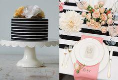 Black & White Stripes | rayas en blanco y negro | #wedding #deco #boda