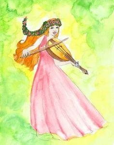 """""""Les Neuf Muses"""", histoire que j'ai illustrée pour ebookids.com"""
