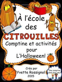 """Pour L'Halloween! Comptine et activités de lecture et d""""écriture ...Drôles de…"""