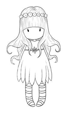4 meninas Gorjuss para colorir / 4 Gorjuss girls for coloring Digi Stamps Free, Digital Stamps, Embroidery Patterns, Hand Embroidery, Machine Embroidery, Coloring Book Pages, Cute Drawings, Girl Drawings, Drawing Faces
