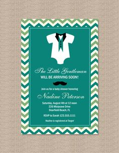 LITTLE MAN BABY SHOWER INVITATIONS BY HONEYPRINT ON ETSY, $15.00