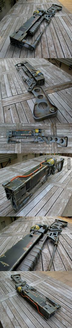 A friend of mine made this 1:1 prop replica Fallout 3 Laser Rifle
