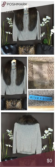 Long Sleeve Sweater Have fun with knits in this stylish sweater by Alice & Olivia.  Style with leather pants and single strapped stilettos for date night. Size: Small. SOLD OUT. Condition: Excellent. Alice + Olivia Sweaters