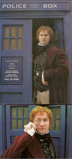 "The day Mark Gatiss dressed as a ginger Doctor.   Writer of episodes such as: ""The Unquiet Dead"", ""The Idiot's Lantern"", ""Victory of the Daleks"", ""Night Terrors"", ""Cold War"", ""The Crimson Horror"" and the soon to be released drama ""An Adventure in Space and Time"" back in 1999 (so before the reboot) he took these images of himself for #285 Doctor who magazine."