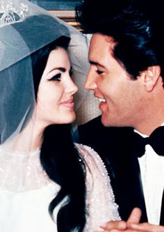 Elvis & Priscilla on their wedding day, May 1, 1967