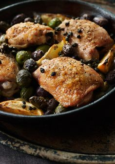 Chicken with Olives and Capers Recipe