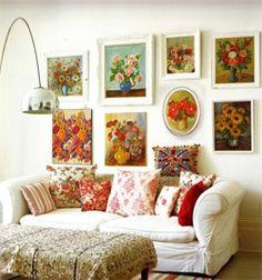 Seis Regras de ouro para pendurar quadros na parede