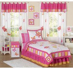 Bright Butterfly Bedroom Girls Bedding Sets, Kids Bedroom Sets, Queen  Bedding Sets, Girls