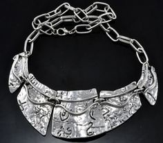 Puzzle Tibetan Silver Necklace.