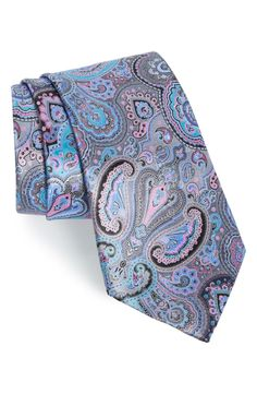 Ermenegildo Zegna Paisley Silk Tie available at Tie Crafts, Designer Ties, Paisley Tie, Mens Silk Ties, Tied Shirt, Classic Man, Floral Tie, Fashion Accessories, Nordstrom