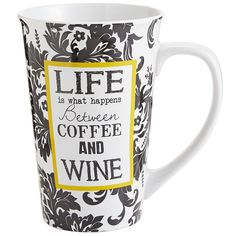 """This begs the question, """"Which comes first: The wine or the coffee?"""" Luckily, you have a jumbo-sized mug that can hold both. No judgment here."""