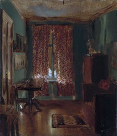 Adolph Menzel - The Artist's Sitting Room in Ritterstrasse