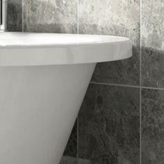 Wickes Cappuccino Light Grey Gloss Ceramic Wall & Floor Tile 360 x 275mm | Wickes.co.uk