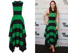 Olivia Wilde's Stella McCartney Striped Jersey Maxi Dress - Red Carpet Fashion Awards