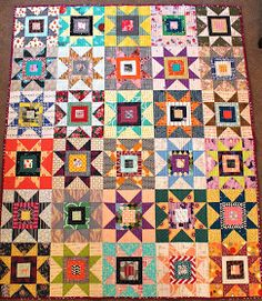 a little gray: Blogger's Quilt Festival: Scrappy Stars for Ruth