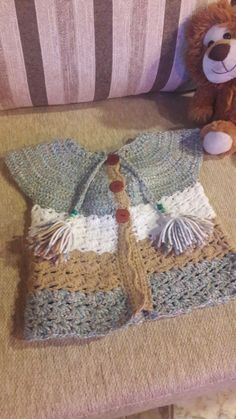 Chaleco de nena a crochet