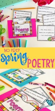 Is poetry in your spring lesson plans? This fun, no prep spring poetry activity is perfect for teaching your elementary students about writing different types of poetry. A perfect idea for a spring bulletin board, and offers enough content to keep your 3rd, 4th, and 5th grade students engaged in writing.