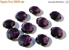 50% Off Sale AAA Amethyst Quartz Faceted by GemsAndBeadsEmporium