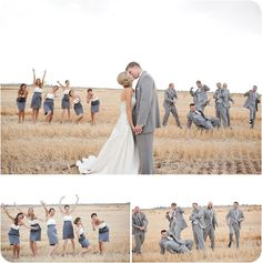 Love the bridal party just being crazy.