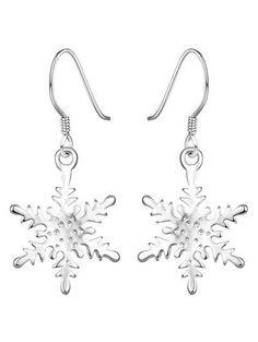 Pendientes de gota de diamantes de imitación de la Navidad del copo de nieve