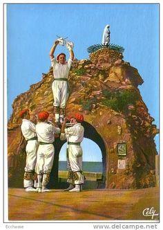 Folklore Basque 1729 Groupe Bi Harri Biarritz Danse de Saint Michel d´Aretxinaga