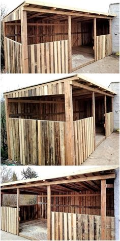 Creative Ideas of How To Recycle Wood Pallets - Garden sheds are now become the essential need of every home, as when you have a large garden area, - Wooden Pallet Crafts, Reclaimed Wood Furniture, Diy Pallet Furniture, Wooden Pallets, Kitchen Furniture, Furniture Ideas, Pallet Dog Beds, Pallet Shed, Diy Pallet Bed