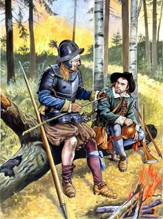 German mercenaries in Poland, 17th century.