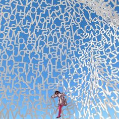 the Nomade sculpture by Catalan artist Jaume Plensa Antibes, the French Riviera, France